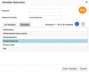 C9 Variables Pro - Enhanced Variable Selector